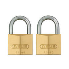 ABUS 65/40-TWIN 1-1/2 in. Body x 7/8 in. Shackle Solid Brass Padlock (2-Pack)