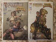 Witchblade Tomb Raider # 1/2 1 Nm- Michael Turner Eidos Top Cow Image Comic 2