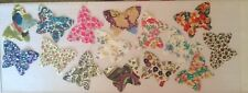 Cascade of Butterflies Cotton Lawns fabric remnants patchwork bundle 100%cotton