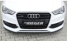 Rieger CUP Spoilerlippe Audi A3 8V Limo Cabrio S-Line S3 Front Schwert Ansatz