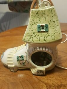 CHILDS BEDSIDE LAMP VINTAGE. DEREK FOWLER INTEREST MICE IN SHOE