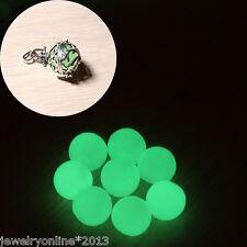 5 Weiß Acrylperlen Kugeln Beads zum DIY Basteln Nachtleuchtend Grün 12mm
