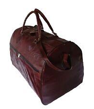 Echte Leder Tasche Große Reisetasche Gym Sporttasche Vintage Duffel Allrounder