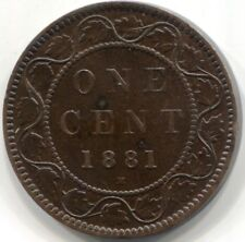1881H CANADA ONE CENT Coin - Incomplete 'D' in CANADA