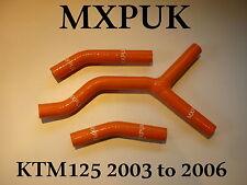 KTM 125SX 200SX ORANGE SILICONE HOSES 2003 2004 2005 2006  HOSE KIT (466)