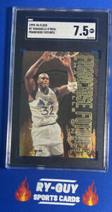 1995 FLEER #7 SHAQUILLE O'NEAL FRANCHISE FUTURES SGC 7.5