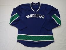 NHL Pro Stock Vancouver Canucks Hockey Jersey - INCOMPLETE
