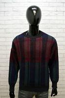 Maglione Uomo STEFANEL Taglia L Cardigan Pullover Vintage Maglia Sweater Lana