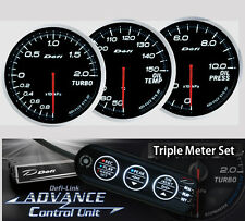 DEFI ADVANCE BF Triple Gauge Set White (Boost/Oil Temp/Oil Press/Control Unit)