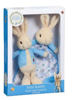 NEW Peter Rabbit Rattle and Comforter Gift Set Beatrix Potter Baby Shower Idea!