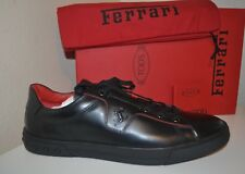NIB Tod's Ferrari Allacciata Cavalino Black Leather Sneakers Size US 13 Italy