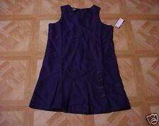 George Girls Navy Blue School Uniform Pleated Jumper Dress 10 1/2 Plus