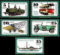 EBS East Germany DDR 1977 Transport Museum Dresden Michel 2254-2258 MNH**