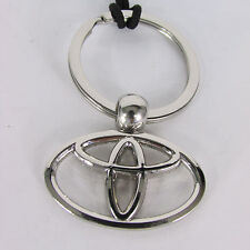 New Collectors Metal Fashion Key Chain Silver Metal Toyota Logo Classic Desinged