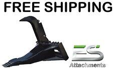 Es New Stump Bucket Grapple Skid Steer Quick Attach Loader Free Shipping
