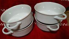 Schirnding Bavaria White Porcelain Double Handled Cream Soup Set 4