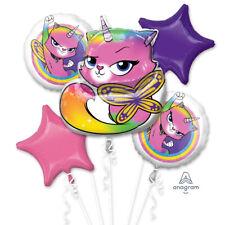 Rainbow Butterfly Unicorn Kitty Balloon Bouquet ~ Girls Birthday Party Supplies