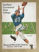 SOUTHERN CONNECTICUT STATE QUONSET NAVAL COLLEGE FOOTBALL PROGRAM - 1960 - EX
