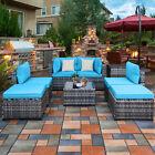 8 Pcs Outdoor Garden Patio Furniture Set Rattan Wicker Sofa Sectional Poolside