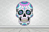 Wall Art Sticker Full Colour Sugar Skull - Day of the Dead Poster Vinyl GA27-15