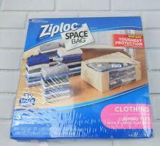 Ziploc NEW Space Vacuum Seal Storage 4 Large Bags 1 Tote Storage Bags