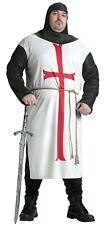 Adult Templar Knight Medieval Renaissance Costume Plus Size