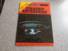 BRAND NEW 1990 MAKE A MODEL STAR TREK NEXT GENERATION STARSHIP ENTERPRISE BOOK