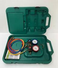 Refco Gylcerin Filled Refrigeration Gauge Manifold Set Amp Hose With Carry Case