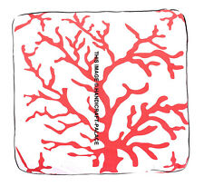 Indian Tree Print Square Floor Pillow Cover Meditation Throw Boho Pets Dog Bed