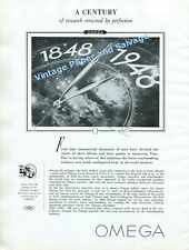 1948 Omega Watch Company A Century Crowned By Perfection Vintage Swiss Print Ad