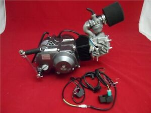 New Lifan 110cc 4 Speed Semi Auto BBR Pit Bike Engine Full Package Old Style