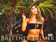 Brittney Palmer Signed 2016 Calendar PSA/DNA COA Playboy UFC Picture Autograph