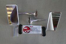Hot Rat Street Rod Custom Long Curved Arm Vintage Outside Rectangle Peep Mirrors