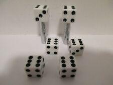 WHITE DICE DOOR LOCK KNOBS TIRE VALVE STEM CAP SET CHEVY FORD MOPAR#70041/70006