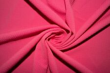 Neon Bubblegum #152 Bullet Double Knit Stretch Poly Lycra Spandex Fabric BTY