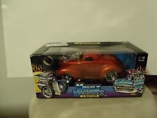 Muscle Machines 1941 Willys Coupe Burnt Orange Diecast 1:18 NEW NIB