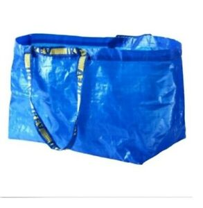 IKEA BLUE BAG Large Shopping Grocery Laundry Storage Tote Bags Strong FRAKTA