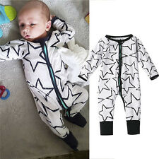 One Piece Bodysuit Baby Boy Girl Romper Toddler Kid Babygrow Outfit Clothes XL E