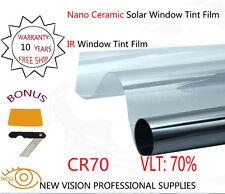 CR70 High IR Nano Ceramic Solar Window Tint Film VLT70% IR Reduction 100% 76X3m