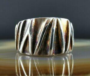 Massiver ausgefallener Design Ring 925 Silber 18 mm abstrakt
