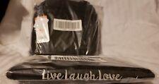 NEW LUG FLAPPER BAG BRUSHED BLACK RFID CROSSBODY AND WALLET SET