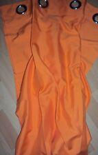 2 Vorhänge Gardinen Deko Schal uni orange mit Ösen Aufhängung B/H 140 x 245 cm