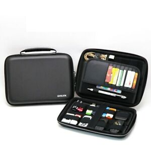 Portable Hard Drive Case Bag Waterproof Shockproof Electronic Accessories Black