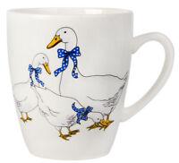 Porcelain Mug with Geese Print Made in Russia 12 fl oz Coffee Tea Mug