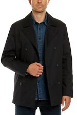 NWT JAG Double Breasted Peacoat / Trench coat in Navy Size M RRP$200