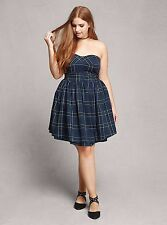 *GIFT* POCKETS  PLUS SIZE PLAID DRESS TAGGED 1 1X 14 16 SCHOOL GIRL SKIRT TORRID
