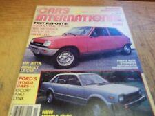 Cars International 1981, Escort/Lynx, Subaru 4Wd, Colt Rs, Le Car, Vanagon