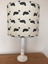 Border Collie Dog Print Fabric Lamp