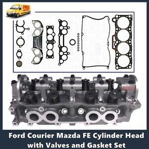 Ford Courier Mazda E2000 Cylinder Head with Valves Includes Vrs Gasket Set