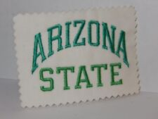 Asu Arizona State University vintage embroidered Unfinished Cut Edge Patch
